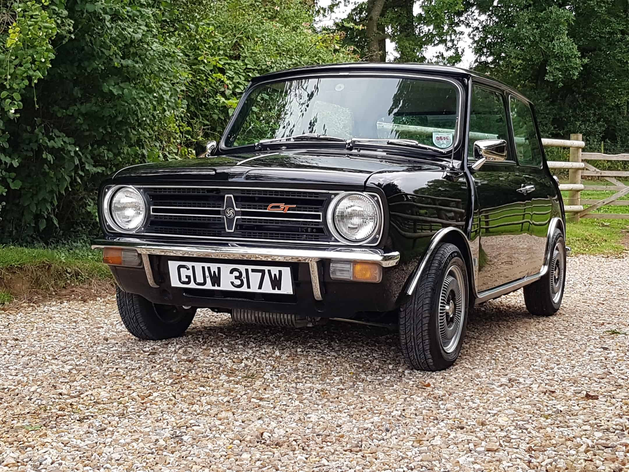 ** NOW SOLD ** Outstanding Austin Mini 1275 GT In Black With Gold Stripes!